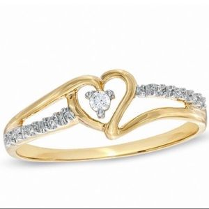 Solid 10k diamond ring